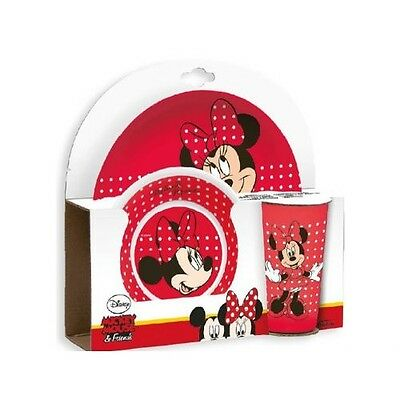 Disney Minnie Maus - Kindergeschirr Set 3 Teilig Melamin