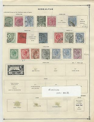 Gibralter Collection 1886 to 1930 on Scott International Page, British Colony