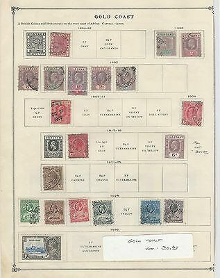Gold Coast Collection 1884 to 1935 on Scott International Page, British Coony