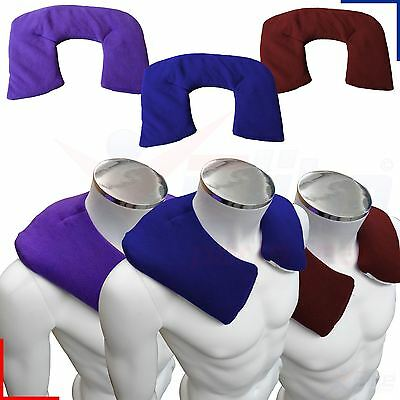 Hot or Cold Fleece Wheat Heat Pack Bag Neck and Shoulder Pain Relief