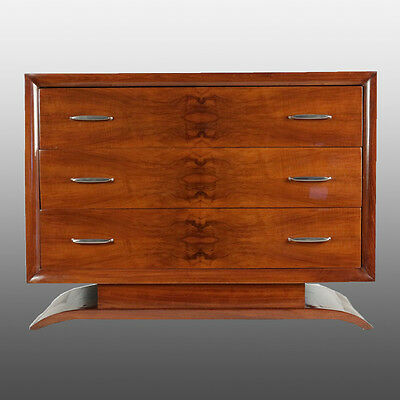 Commode Art Déco en noyer – Walnut chest of drawers