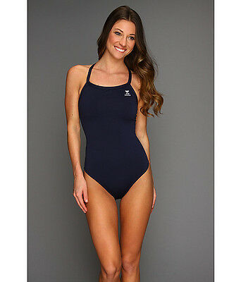 0a0d656f825 Tyr Durafast Elite Diamond Fit Back One Piece Swimsuit Navy Blue Size 38  New  68