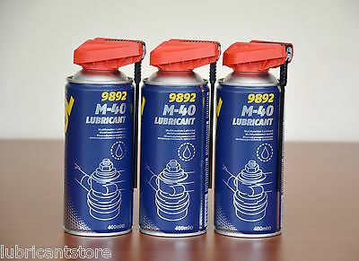 3x (WD-40) Smart Straw 400ml Aerosol Protection Spray Lubricant Oil Maintenance