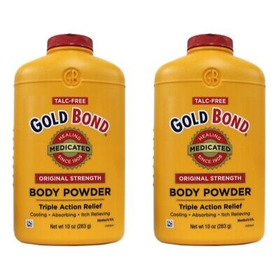 2 Pack - Gold Bond Body Powder Medicated 10 oz Each