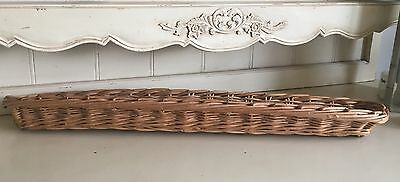Shabby French Vintage Chic Wicker Bread Basket Baguette Proving Baton Storage