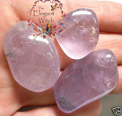 """2 LG Tumbled Purple BOLIVIAN """"A"""" Grade AMETHYST STONES Crystal Healing Wicca"""