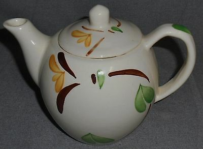 PURINTON POTTERY Hand Painted YELLOW BLOSSOM IVY PATTERN Four Cup TEAPOT
