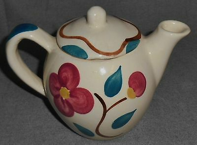 PURINTON POTTERY Hand Painted MOUNTAIN ROSE PATTERN Two Cup TEAPOT
