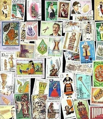 100 All Different Folklore Stamps