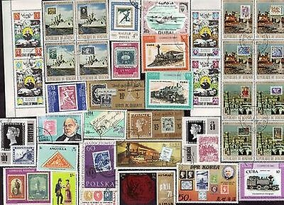 150 All Different STAMPS on Stamps