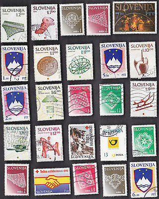 25 All Different SLOVENIA Stamps