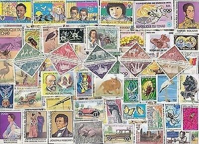 100 All Different Chad ( Tchad) Stamps