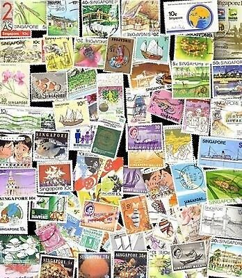 100 All Different SINGAPORE Stamps