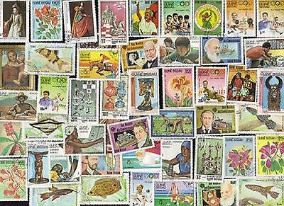 50 All Different GUINEA BISSAU Stamps ALL LARGE
