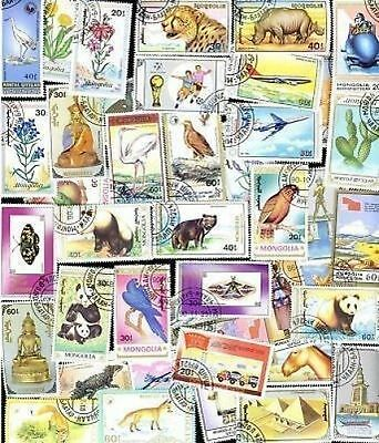 200 All Different MONGOLIA Stamps - ALL LARGE