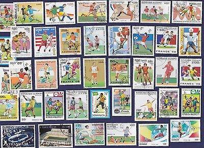 200 Different World Cup Soccer  On Stamps