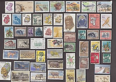 100 All Different SOUTH WEST AFRICA Stamps
