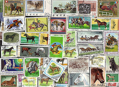 300 All Different HORSES on Stamps,  HUGE COLLECTION