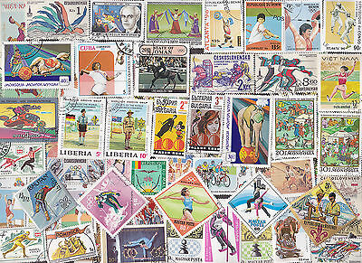 400 All Different Sports & Recreation Stamps
