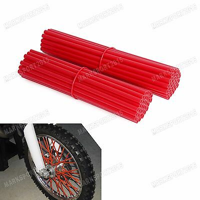 "76 PCS Red 19"" to 21"" Spoke Wraps Covers For Honda CR CRF CRM XR 125 150 250 450"