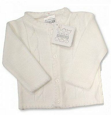 FreePos NT Baby Boy Cable Knitted Christening Wedding Cardigan/Jacket NB-24 Mo's