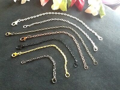 Light Weight Necklace Extender  - it's a  fine  Chain - 3 to 8 Inchs - 8 Colors