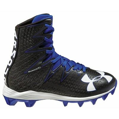 New Under Armour Football Highlight RM JR Youth Cleats Blue Black Size 3.0Y