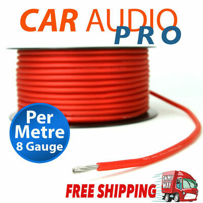 8Ga 8 Gauge Awg Red Power Wire Cable Car Audio For Amplifier Amp (Per Metre)