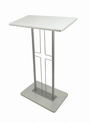 Church Podium Christian Pulpit Precher Lectern Cross Design Religious Pulpit