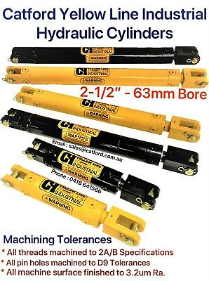 "Catford Yellow Line, Hydraulic Cylinder / Ram 2-1/2"" Bore x 4"",10"",14"" Stroke"