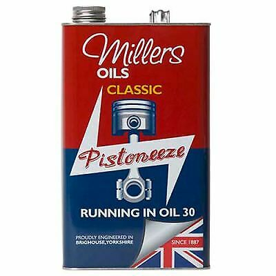 Millers Oils Classic/Vintage Running In Oil SAE 30 Mineral Based 5L / 5 Litres