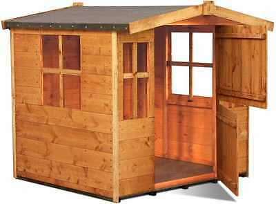 Outdoor Playhouse Garden Wooden Traditional Cottage Style Children Funtime