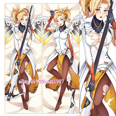 Overwatch Dakimakura Mercy Angela Ziegler Anime Hugging Body Pillow Case Cover