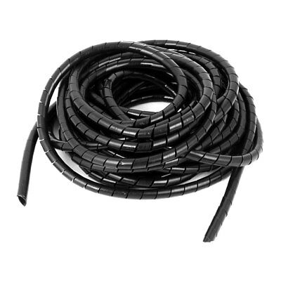8mm Cable Wire Tidy Spiral Wrapping Band PC TV Management Organizer 8 Meters