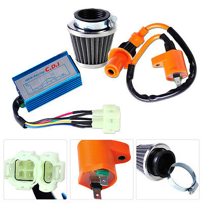 CDI+Air Filter+Racing Ignition Coil Fit for GY6 50cc-150cc Scooter ATV Go Kart