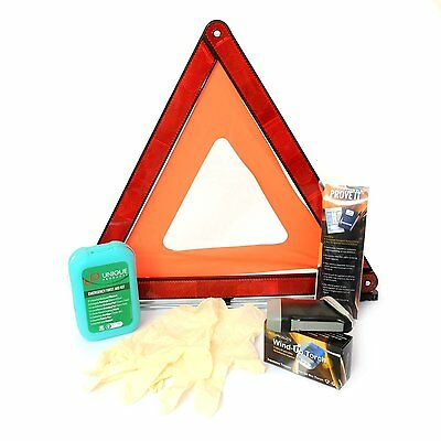 Quality Car Safety & Travel Kit for roadside emergencies (+ Triangle + Torch)
