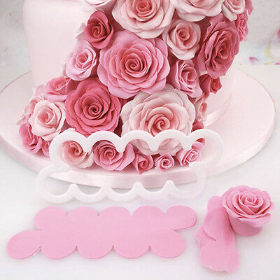 New 3D Cake Rose Petal Flower Cutter Fondant Icing Tool Decorating Mould Popular