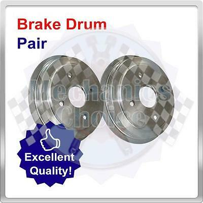 Premium Rear Brake Drums (Pair) for Vauxhall Corsa 1.0 (12/09-12/11)