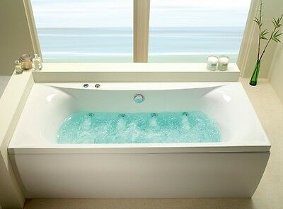 Carron Alpha 1800mm x 800mm 11 Jet Whirlpool Bath | Double Ended Jacuzzi Spa