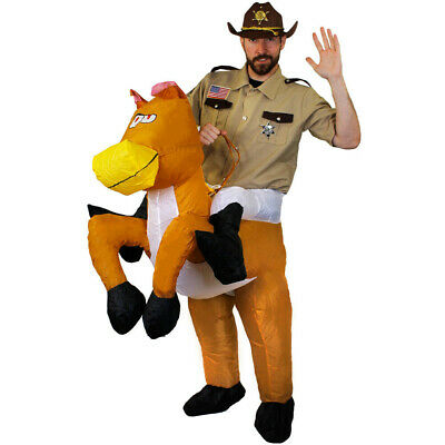Horse Step In Animal Cowboy Stag Funny Costume Fancy Dress Costume