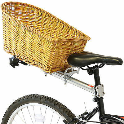 Vintage Wicker Rear Pannier Bike Shopping Basket Retro Old Style Bicycle/Cycle