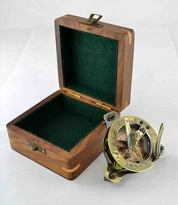 Sundial-West-London-Compass-Maritime-With Box Navigation Astrolabe Brass