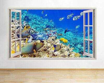 A192 Aquarium Fish Tank Water Living Room Wall Decal Poster 3D Art Stickers Viny