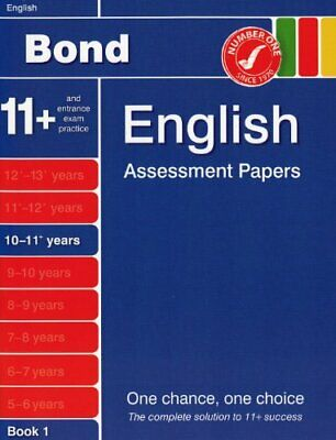 Bond Assessment Papers in English 10-11 years New ... by Sarah Lindsay Paperback