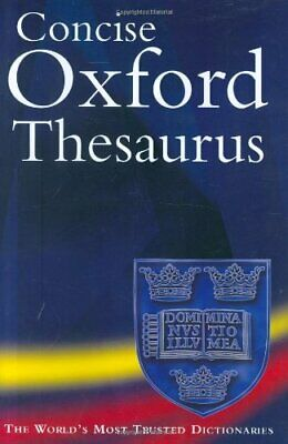 Concise Oxford Thesaurus Hardback Book The Cheap Fast Free Post