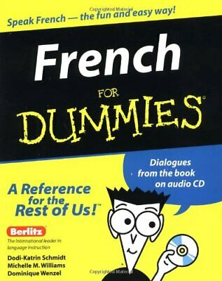 French For Dummies, Wenzel, Dominique Paperback Book The Cheap Fast Free Post