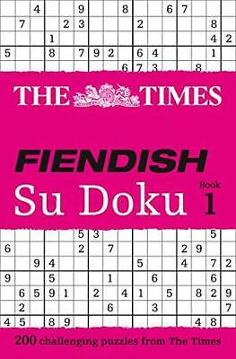 The Times Fiendish Su Doku Book 1 Paperback Book The Cheap Fast Free Post
