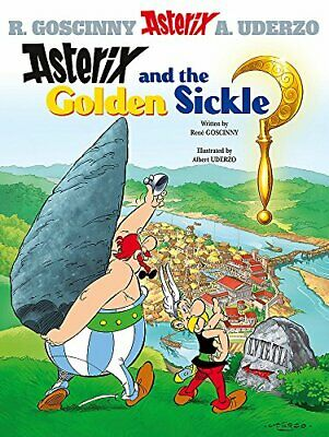 Asterix and the Golden Sickle: Album 2 by Albert Uderzo Hardback Book The Cheap
