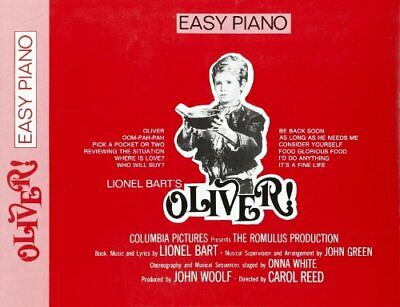 LIONEL BART OLIVER! (EASY PIANO) VCE by Various Paperback Book The Cheap Fast