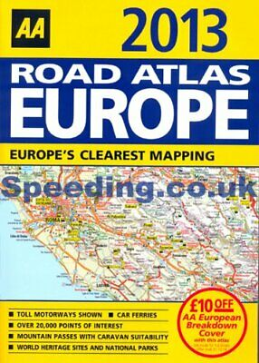 AA 2013 Road Atlas Map Europe A4 Size Latest Edition Book The Cheap Fast Free